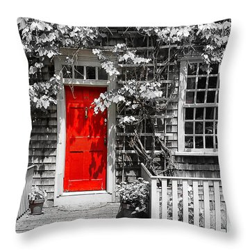 The Red Door Throw Pillow by Sabine Jacobs
