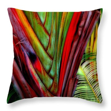 The Red Jungle Throw Pillow