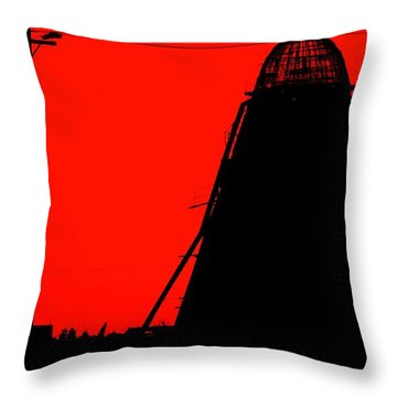 The Red Mill Throw Pillow by Jessica Shelton
