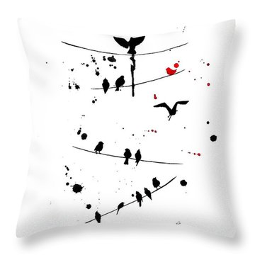 Throw Pillow featuring the painting The Red by Oddball Art Co by Lizzy Love