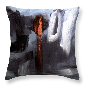 The Red One  Throw Pillow