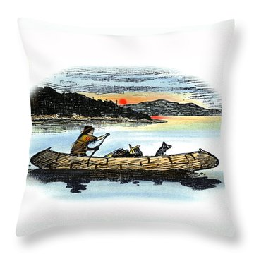 The Red Paint People Throw Pillow