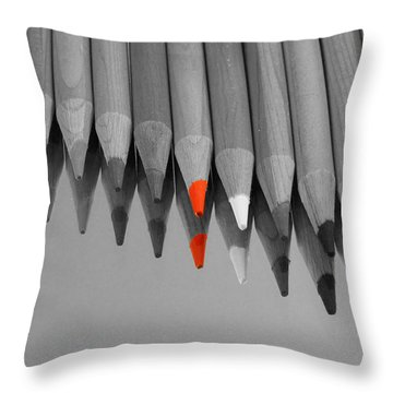 The Red Pencil Throw Pillow
