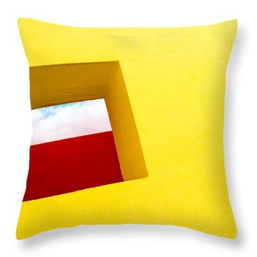 the Red Rectangle Throw Pillow