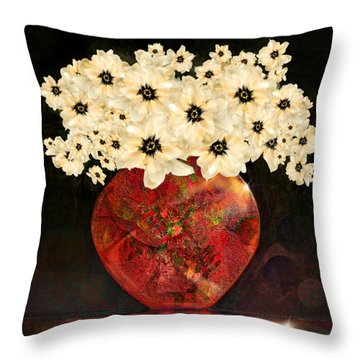 The Red Vase Throw Pillow