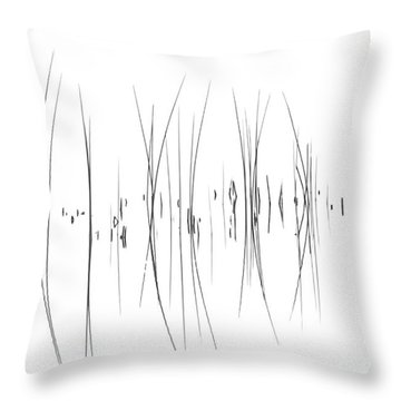 The Reeds Throw Pillow by Andrea Kollo