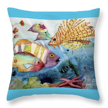The Reef Throw Pillow by Mohamed Hirji
