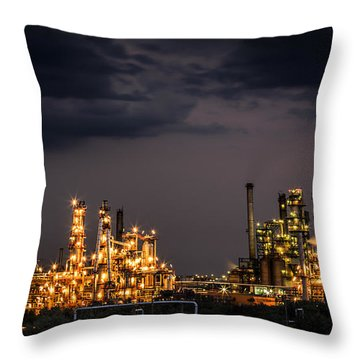 The Refinery Throw Pillow by Mihai Andritoiu