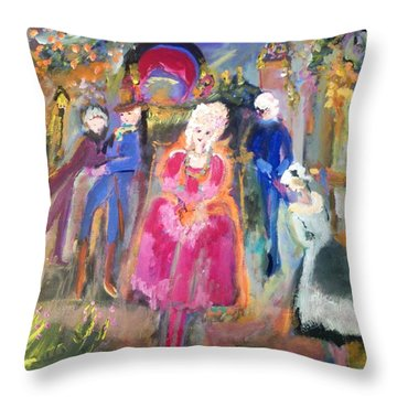 The Regency Ballet Throw Pillow by Judith Desrosiers