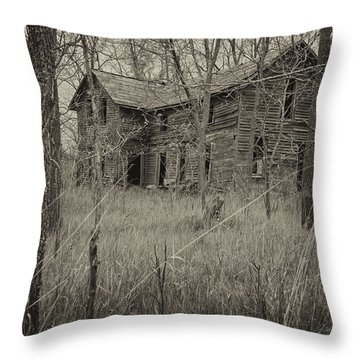 The House In The Woods Throw Pillow