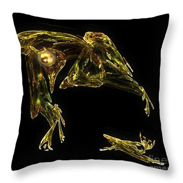 The Reluctant Familiar Throw Pillow by RC DeWinter