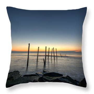 Throw Pillow featuring the photograph The Remains  by Michael Ver Sprill