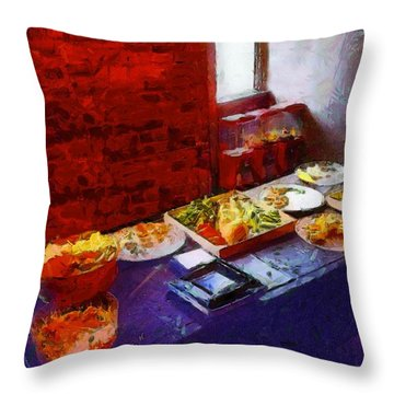 The Remains Of The Feast Throw Pillow by RC deWinter