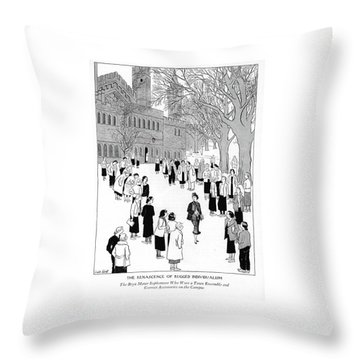 The Renascence Of Rugged Individualism  The Bryn Throw Pillow