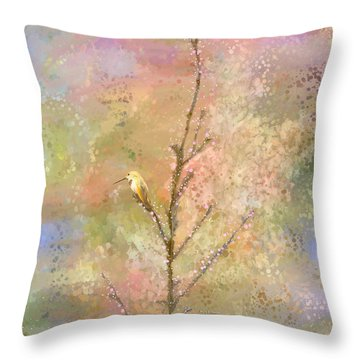 The Restlessness Of Springtime Rest Throw Pillow by Angela A Stanton