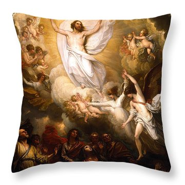 The Resurrection Throw Pillow by Munir Alawi