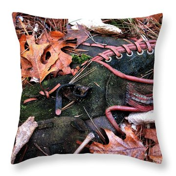 The Retired Baseball Player Throw Pillow