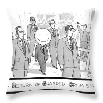 The Return Of Guarded Optimism Throw Pillow