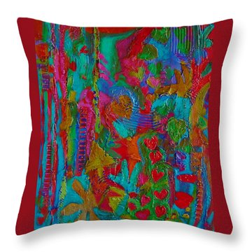 Throw Pillow featuring the mixed media The Rhythm Of Life by Catherine Redmayne
