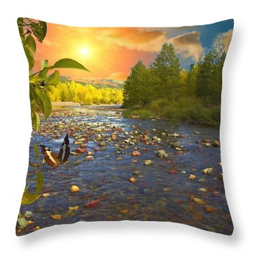 The Riches Of Life Throw Pillow by Liane Wright