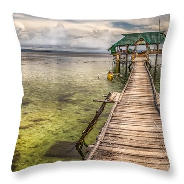 The Rickety Pier Throw Pillow