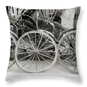 The Rickshaws Throw Pillow