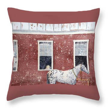 Throw Pillow featuring the painting The Ride Home by LeAnne Sowa