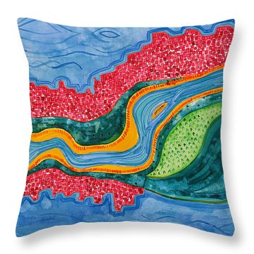 The Riffles Original Painting Throw Pillow