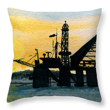 The Rig Throw Pillow