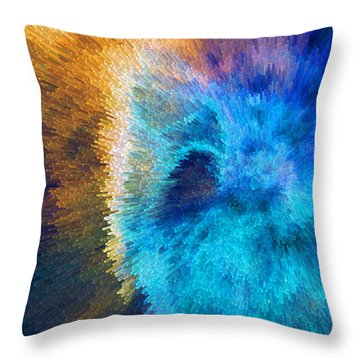 The Right Direction - Abstract Art By Sharon Cummings Throw Pillow