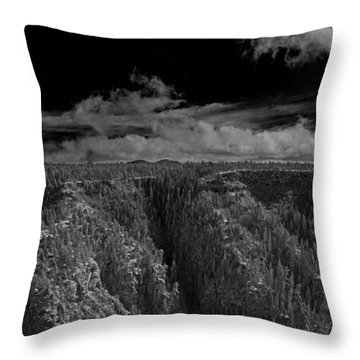Throw Pillow featuring the photograph The Rim by Tom Kelly