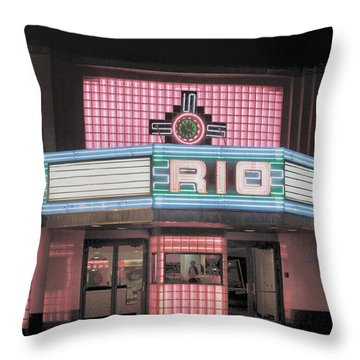 The Rio At Night Throw Pillow by Lynn Sprowl