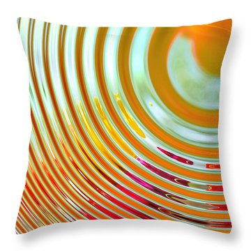 The Ripple Effect Throw Pillow by Mary Machare