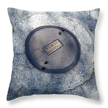 The Ripples Throw Pillow by Fei A