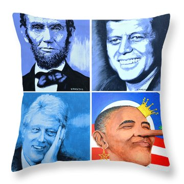 The Rise And The Fall Of America Throw Pillow