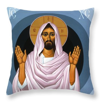 The Risen Christ 014 Throw Pillow