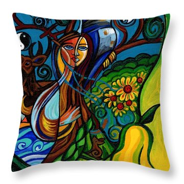 The Rite Of Spring Throw Pillow by Genevieve Esson