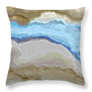 Throw Pillow featuring the digital art The River by Lena Wilhite