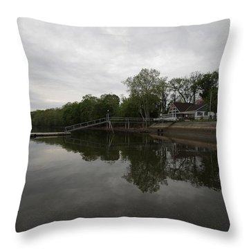 The River Throw Pillow by Mustafa Abdullah