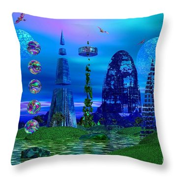 Throw Pillow featuring the photograph The River Quinque by Mark Blauhoefer