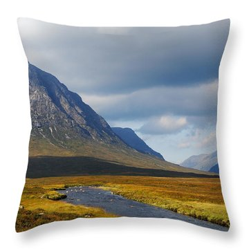 The River Runs Through It Throw Pillow by Wendy Wilton