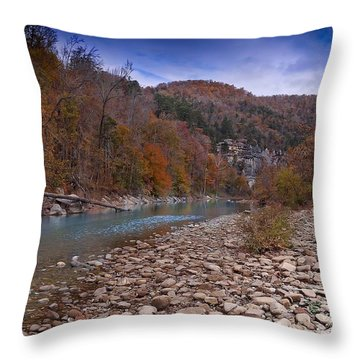 Throw Pillow featuring the photograph The River Runs Through by Renee Hardison