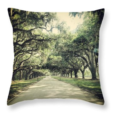 The Road From Boone Hall Throw Pillow