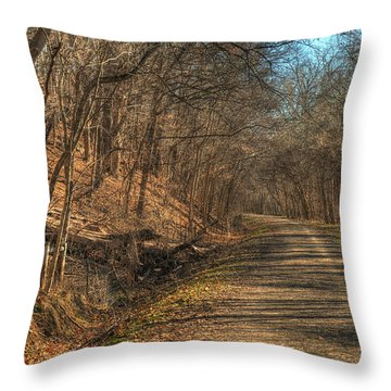 The Road Goes Ever On Throw Pillow by William Fields
