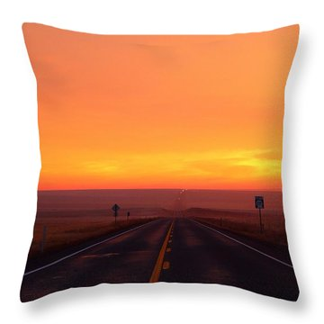 Throw Pillow featuring the photograph The Road Goes On And On by Lynn Hopwood