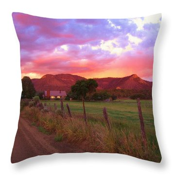 The Road Home Throw Pillow by Feva  Fotos