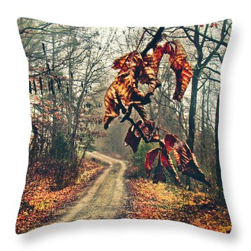 The Road Home Throw Pillow by Jessica Brawley