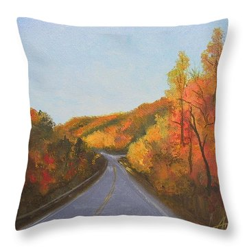 The Road Home Throw Pillow by Sherri Anderson