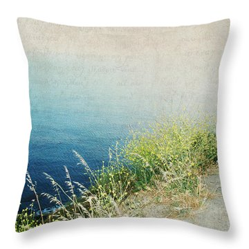 The Road Less Travelled Throw Pillow by Lisa Parrish