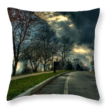 The Road Throw Pillow by Tim Buisman